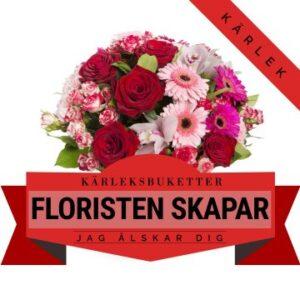 Låt floristen skapa en romantisk kärleksbukett! Ett alternativ hos Florister i Sverige.