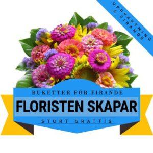 Floristen skapar en festlig bukett med tillgängliga säsongsblommor - med hänsyn till dina önskningar.