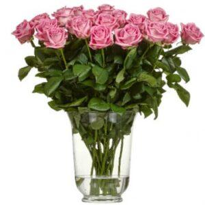 Rosa rosor i bunt - skicka med bud från Florister i Sverige!