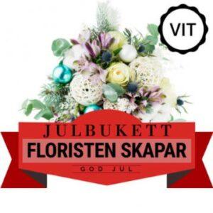 Julbukett med blandade blommor i ljusa färger. Beställ ett blomsterbud online hos Florister i Sverige!