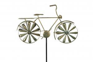 Trädgårdssnurra i form av en cykel. Finns hos Sakligheter.
